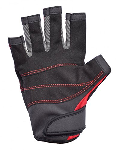 Musto Essential Sailing Short Finger Gloves RED AS0813 Sizes- – Large - 2