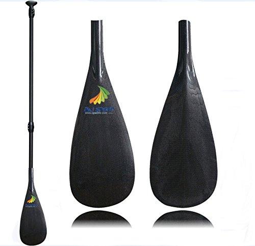 Z&J SPORT 3-delige verstelbare High Performance Carbon Fiber Stand Up Paddle voor opblaasbare SUP Board Paddel Surfen (C-SL (21CM*46.7CM), 172-220CM)