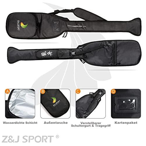 ZJ SPORT Qualitäts-Schwarz-Paddeltasche für Drachenboot -Paddeln - 4