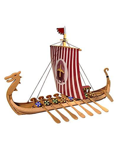 Weico 80112 - Holzbausatz, Drachenboot der Wikinger