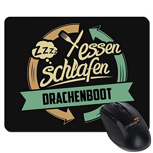 getshirts - RAHMENLOS® Geschenke - Mousepad - Sport Drachenboot - schwarz uni