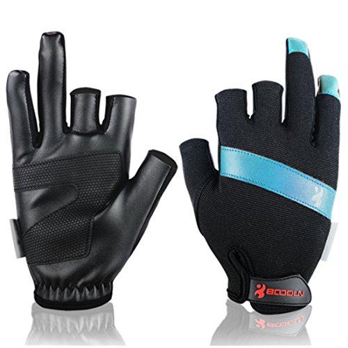 Andux 1 Paar Fanghandschuhe Schnell trocknend Segelboot Drachenboot Handschuhe F-DYST01 (Blau, M)