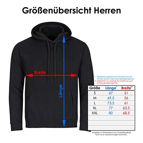 Kapuzen Sweatshirt Nur wo Drachenboot-Fahrer drauf steht ist auch ein Drachenboot-Fahrer drin schwarz Herren Gr. S bis 2XL - 3