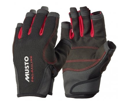 Musto Essential Sailing Short Finger Gloves BLACK AS0813 Sizes - Small