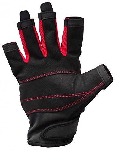 Musto Essential Sailing Short Finger Gloves BLACK AS0813 Sizes- - Small -